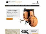 Chaudron et marmites en cuivre de fabrication artisanale