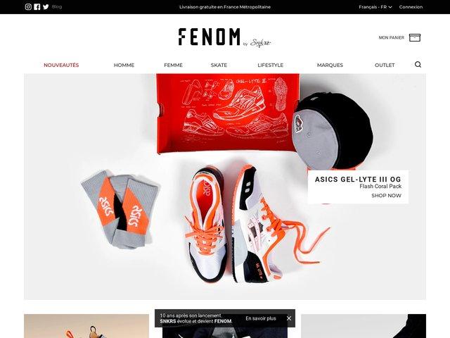 FENOM, votre boutique spécialisée sneakers et street culture
